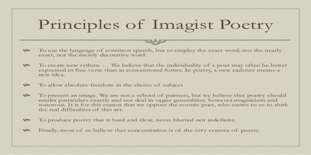 Presentation on Imagist Poetry