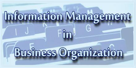 Information Management in Business Organization
