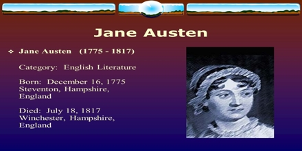 Lecture on Jane Austen English Literature
