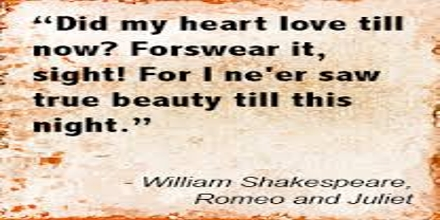 Shakespeare's Quotable Quotes from Romeo and Juliet