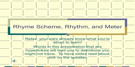 Understanding Rhyme and Meter