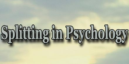 Splitting in Psychology