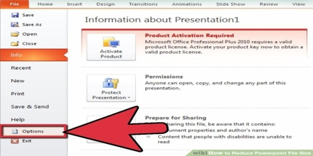 Reducing File Size in PowerPoint