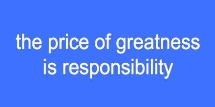 Presentation on Responsibility Quote