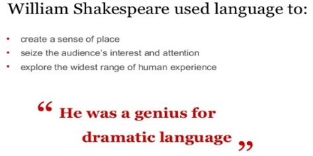 Shakespeare's Dramatic Language