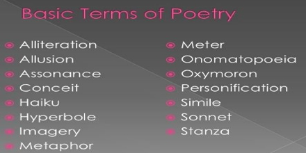 Lecture on Poetic Terms