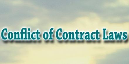 Conflict of Contract Laws