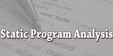Static Program Analysis