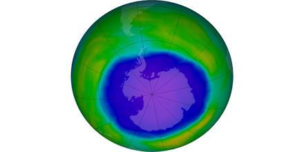 Volcanic Ozone Hole