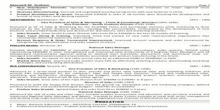 Curriculum Vita Format for Marketing Executive