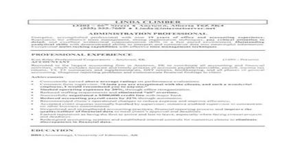 Resume  Format for Administration Jobs