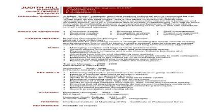 Resume Format for Business Development