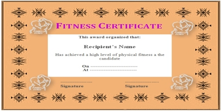 Application for Issuance of Health Fitness Certificate