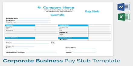 Sample Application for Issue of Pay Slip