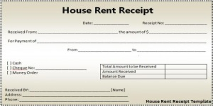 Sample Application for Issuance of House Rent