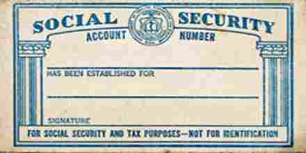 Application for Issuing Social Security Card