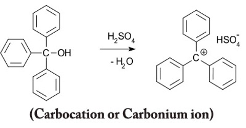 Carbocation or Carbonium ion
