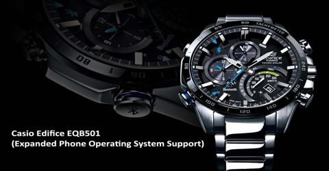 Casio Edifice EQB501: Expanded Phone Operating System Support