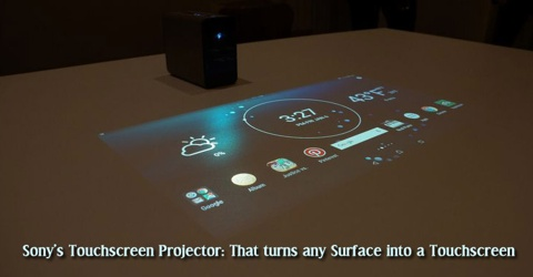 Sony's Touchscreen Projector: That turns any Surface into a Touchscreen