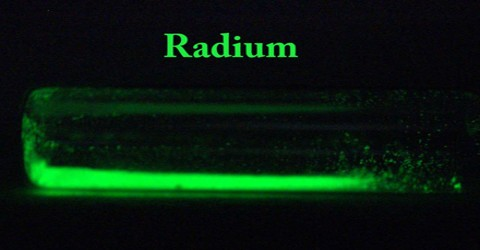 the description of the highly radioactive element radium Radium is used as a source of radiation for treating certain malignant growths such as cancer it is also used to examine flaws in materials through acquiring images similar to those obtained using x-rays radium is a highly radioactive metallic element that results from the natural disintegration .
