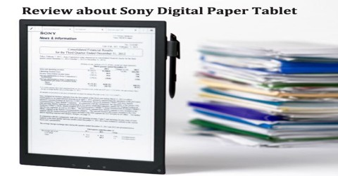 Review about Sony Digital Paper Tablet