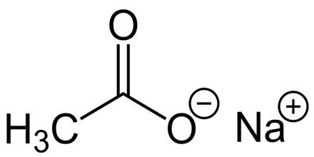 how to identify sodium acetate