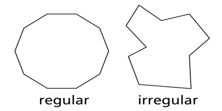 Decagon polygon definition types and properties - Define exterior angle of a polygon ...