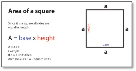 How to find the Area of a Square?