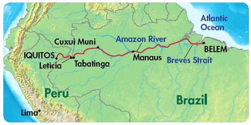 Amazon River Assignment Point - Amazon river map