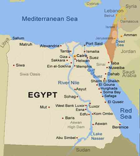 Nile River Assignment Point - World map the nile river