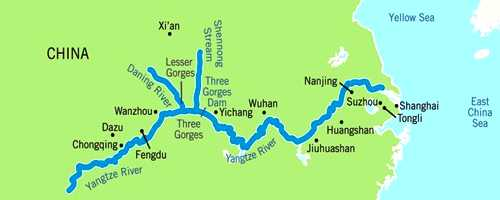 Map Of East Asia Yangtze River.Yangtze River China Assignment Point