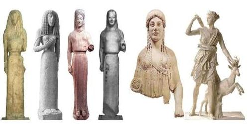 Characteristics of Archaic Greek Sculpture