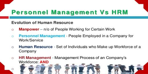 Personnel Management vs Human Resources Management
