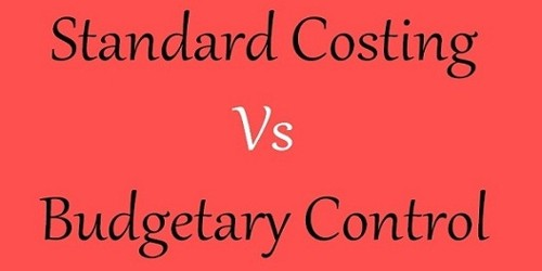 Difference between Budgetary Control and Standard Costing