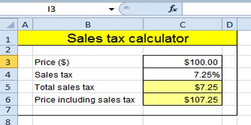 Calculation of Sales Tax