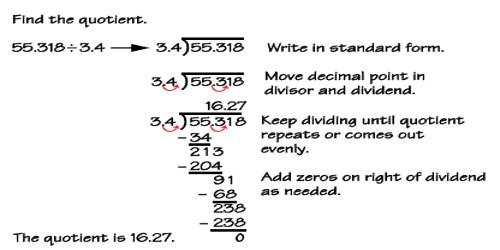 Division of Decimals by Decimals