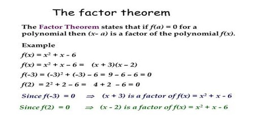 Factor Theorem Assignment Point