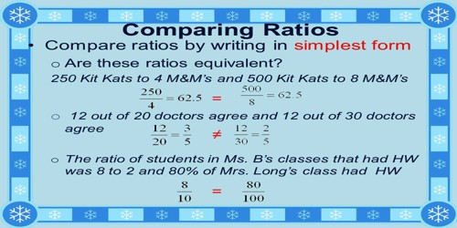 how to compare ratios