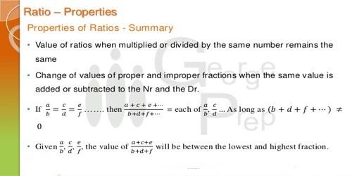 Properties of Ratios