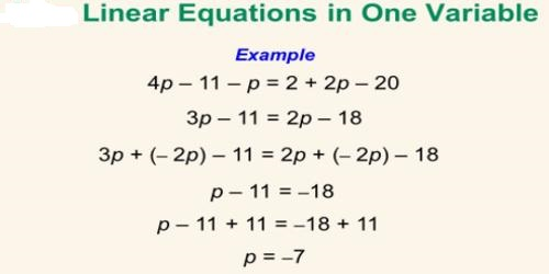 Linear Equation In One Variable Assignment Point