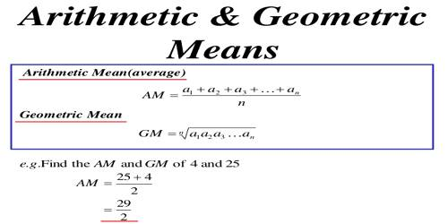 Relation between Arithmetic Means and Geometric Means