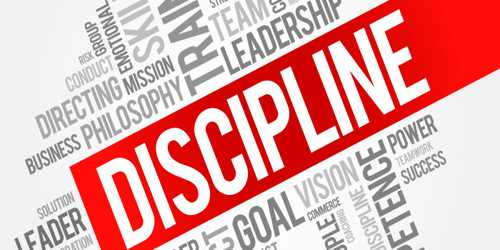 assignment on discipline Demonstrate self-discipline through relevant activities m2 – perform relevant activities with a high standard of self-discipline d2 – evaluate personal levels of.