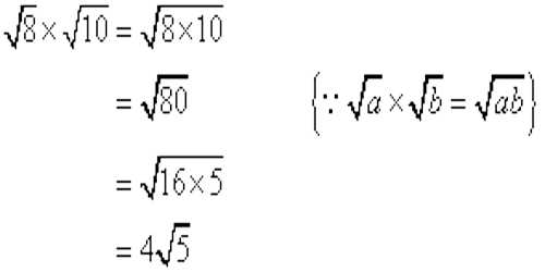 Multiplication of Surds