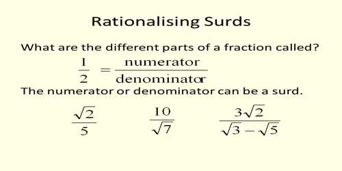 Rationalization Of Surds Assignment Point