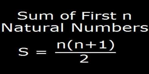 Sum of First n Natural Numbers
