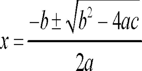 Image result for quadratic equation