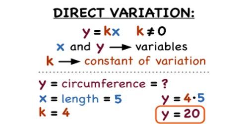 Direct Variation in Mathematics