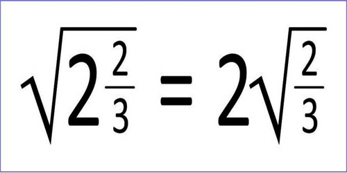 Express of a Simple Quadratic Surd