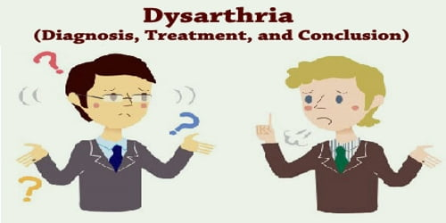 Dysarthria (Diagnosis, Treatment, and Conclusion)