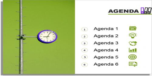 Sample Business Presentation Meeting Agenda Format